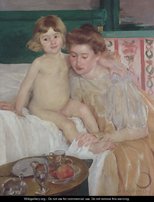 Mother and Child (Baby Getting Up from His Nap) - Mary Cassatt