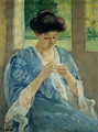 Augusta Sewing Before a Window 1905 - Mary Cassatt