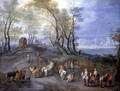 The Road to the Market - Jan The Elder Brueghel