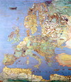 Map of Sixteenth Century Europe from the 'Sala del Mappamondo - Jan The Elder Brueghel