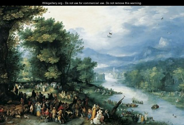 Landscape with Young Tobias 1598 - Jan The Elder Brueghel