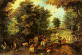 Landscape with a Ford - Jan The Elder Brueghel