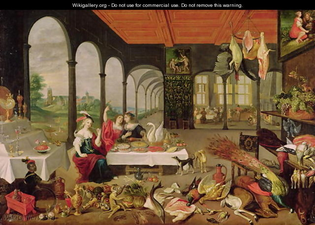 Allegory of Taste - Jan The Elder Brueghel