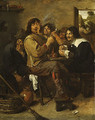The Smokers probably ca 1636 - Adriaen Brouwer