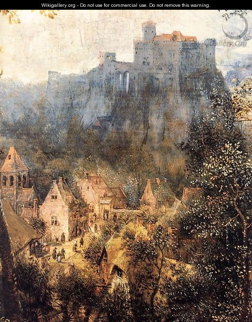 Magpie on the Gallow (detail) 1568 2 - Jan The Elder Brueghel