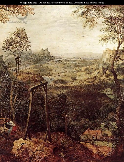 Magpie on the Gallow (detail) 1568 - Jan The Elder Brueghel