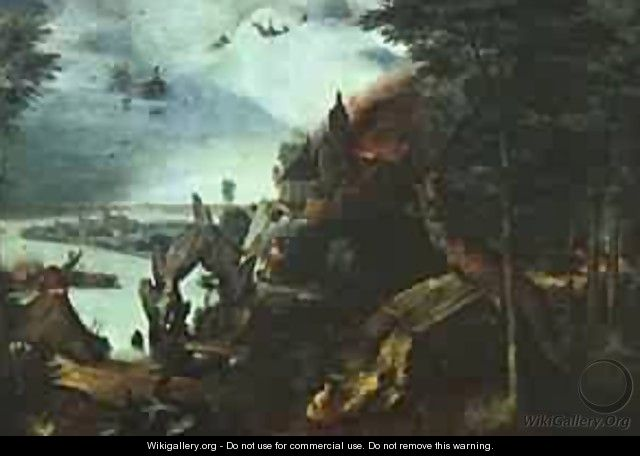 Landscape With The Temptation Of Saint Anthony 1555-58 - Jan The Elder Brueghel