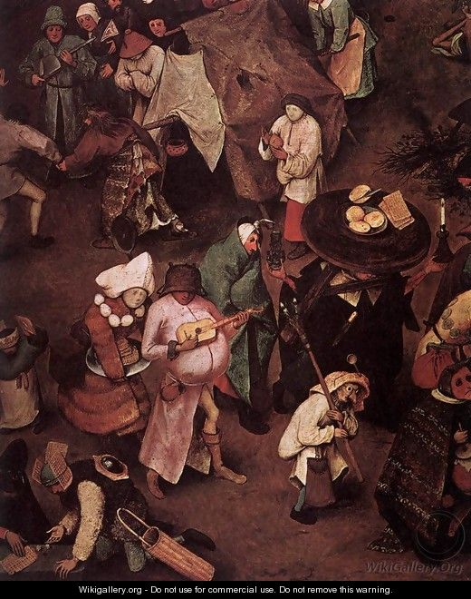 The Fight between Carnival and Lent (detail) 1559 3 - Jan The Elder Brueghel