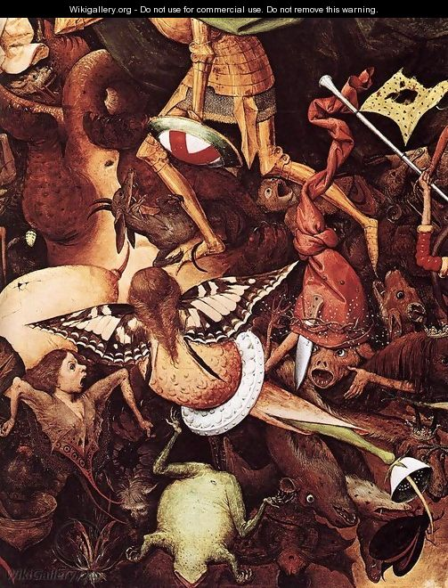 The Fall of the Rebel Angels (detail) 1562 2 - Jan The Elder Brueghel