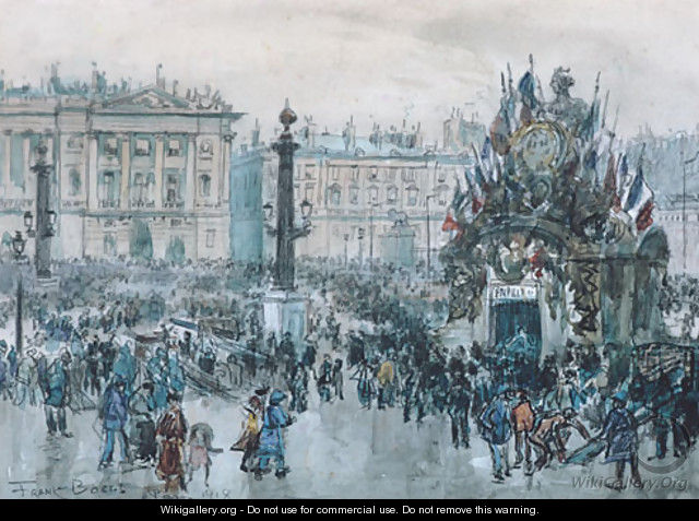 Armistice Day Paris 1918 - Frank Myers Boggs