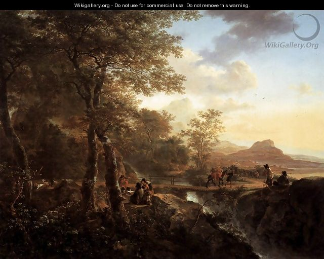 Italian Landscape with Draughtsman 1650 - Jan Both