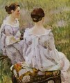 Two Ladies Sketch 1899-1900 - Viktor Elpidiforovich Borisov-Musatov