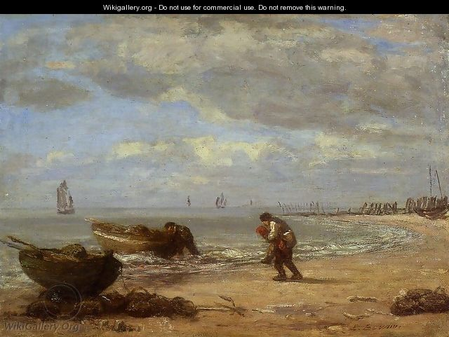 Low Tide near Honfleur 1854-1857 - Eugène Boudin