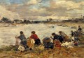 Laundresses on the Banks of the Touques2 1894-1897 - Eugène Boudin