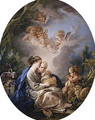 Virgin and Child with the Young Saint John the Baptist and Angels 1765 - François Boucher