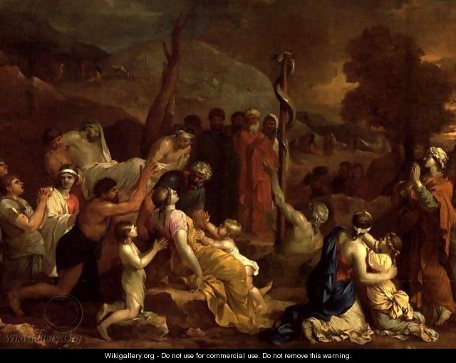 Moses and the Brazen Serpent 1653 54 2 - Sébastien Bourdon