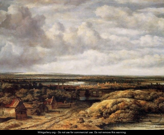 Panorama with Farmhouses along a Road 1655 - Philips Koninck