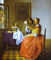 Woman And Two Man 1659-1660 - Jan Vermeer Van Delft