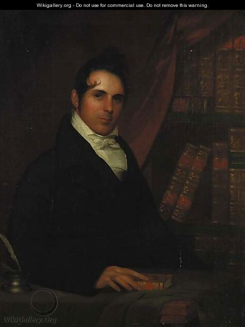 Portrait of a Gentleman in His Library - American School