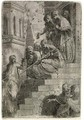Christ and the Women on the Stairs - Andrea Meldolla