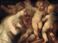 A female figure surrounded by desporting putti - Andrea Celesti