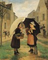 The young shoppers - Andre Henri Dargelas