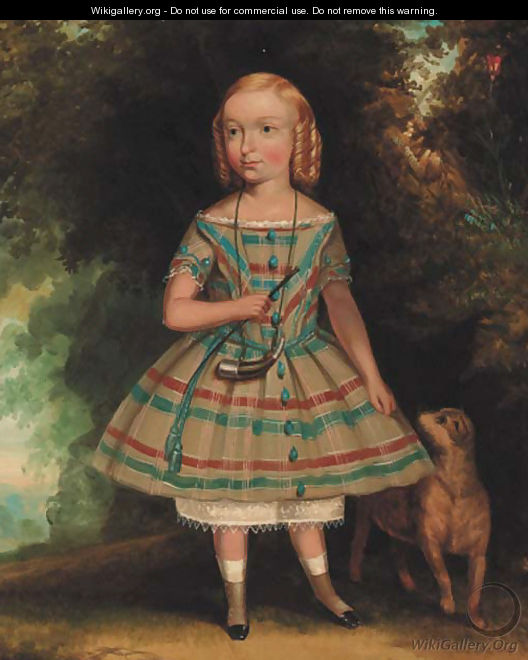 Portrait of a young girl - American School