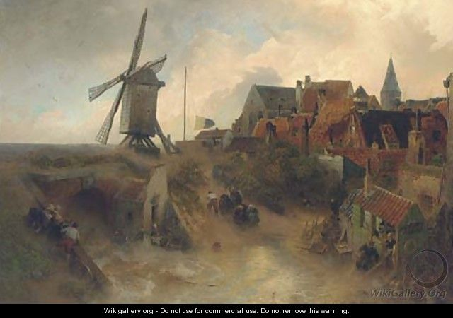 A windmill in a storm - Andreas Achenbach