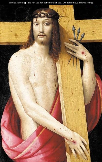 Christ holding the Cross, as the Man of Sorrows - Andrea del Brescianino