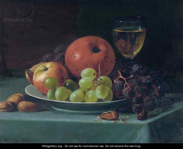 Still Life with Grapes, Walnuts and Apples - Andrew John Henry Way