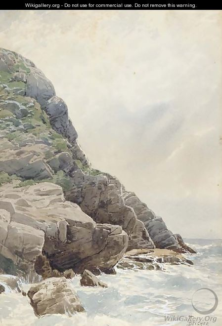 Surf and Cliffs, Conanicut, Rhode Island - Alfred Thompson Bricher