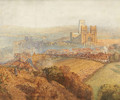 Durham, misty with colliery smoke - Alfred William Hunt