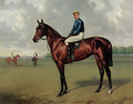 St. Amant with jockey up, on a racecourse - Alfred Wheeler