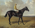 Cheers with jockey up, on a racecourse - Alfred Wheeler