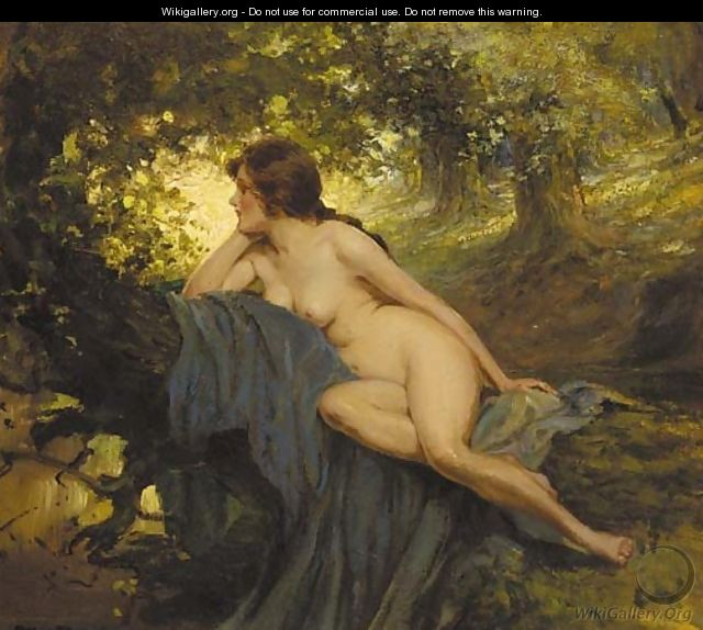 painting nude Reclining female