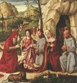 The Adoration of the Child with Saints Francis of Assisi, Jerome, Catherine of Alexandria and Bernardino of Siena, the Shepherds - Altobello Melone