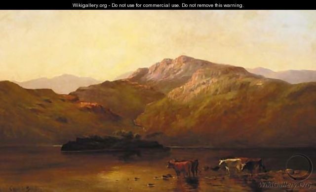 Evening at Callander - Alfred de Breanski