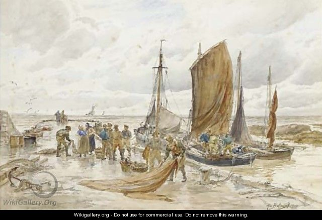 Unloading the catch, Largo, Fife - Alexander Ballingall