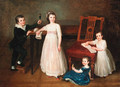 Group portrait of the Bondely children Albert, Justine, Sophie and Emilie Bondely - Alexander Speissegger