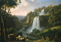 Landscape with waterfall - Alexandre-Hyacinthe Dunouy
