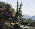 A view of the Swiss mountains of the Valais - Alexandre Calame