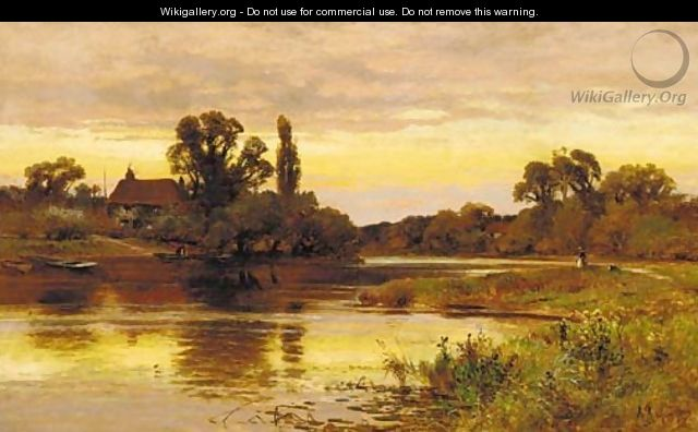 On the Thames, Laleham - Alfred Glendening