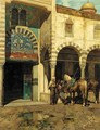 A Rest Outside of the Mosque - Alberto Pasini