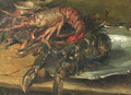 Lobsters on a silver plate - Albert Roelofs