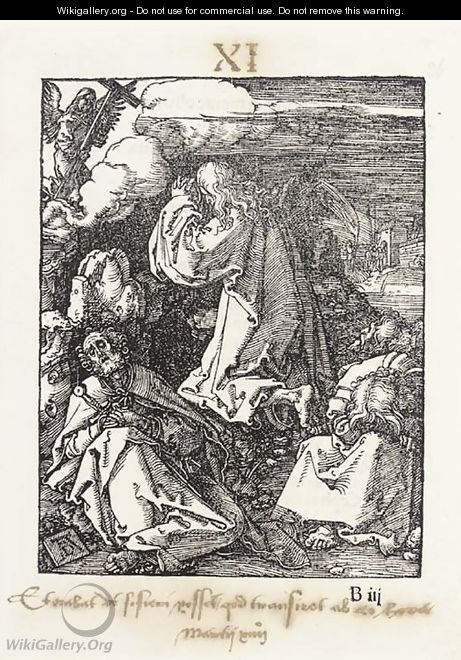 Christ on the Mount of Olives, from The small Passion - Albrecht Durer