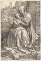 The Virgin and Child seated by a Wall - Albrecht Durer