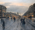 View of the Nevskii Prospect - Aleksandr Karlovich Beggrov