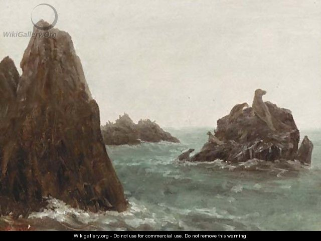 Seal Rocks, California - Albert Bierstadt