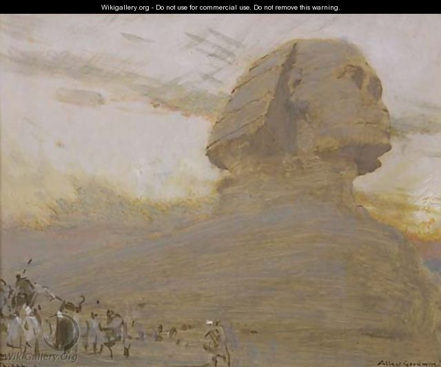 The Sphinx - Albert Goodwin
