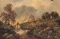 A Scotsman Returning Home In A Highland Landscape - Albert Dunnington